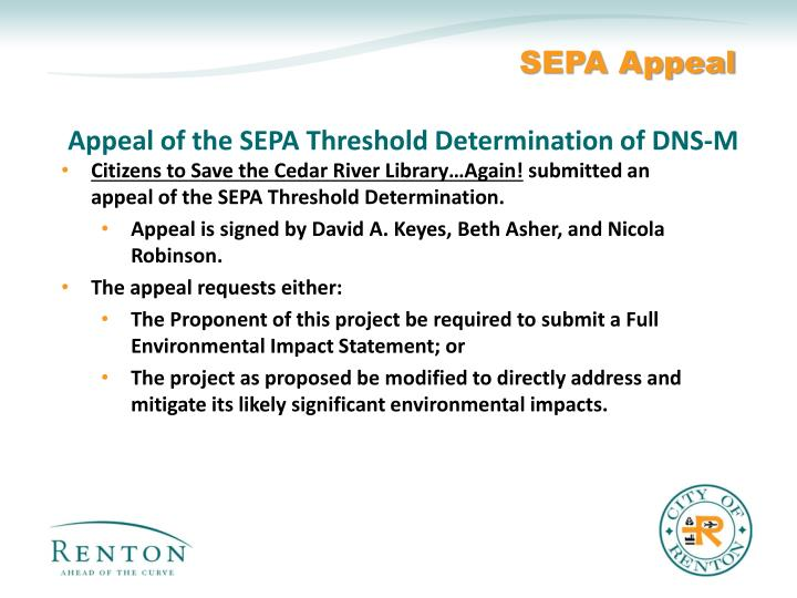 SEPA Appeal