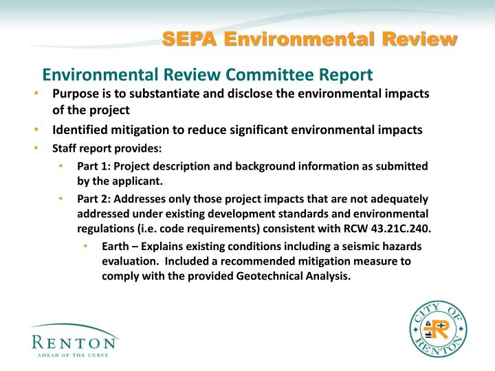 SEPA Environmental Review