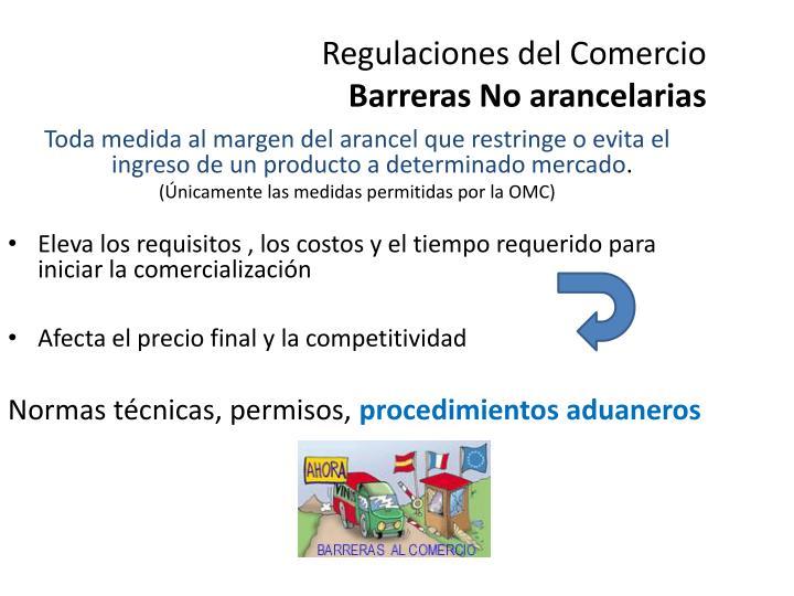 Regulaciones del Comercio