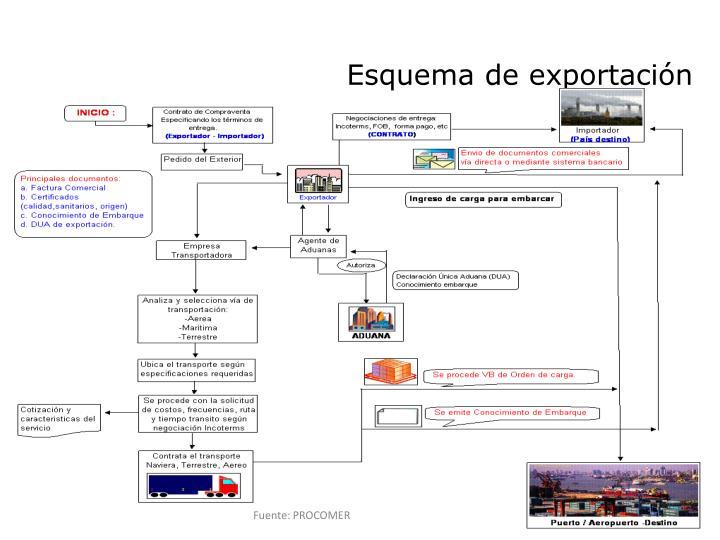 Esquema de exportación