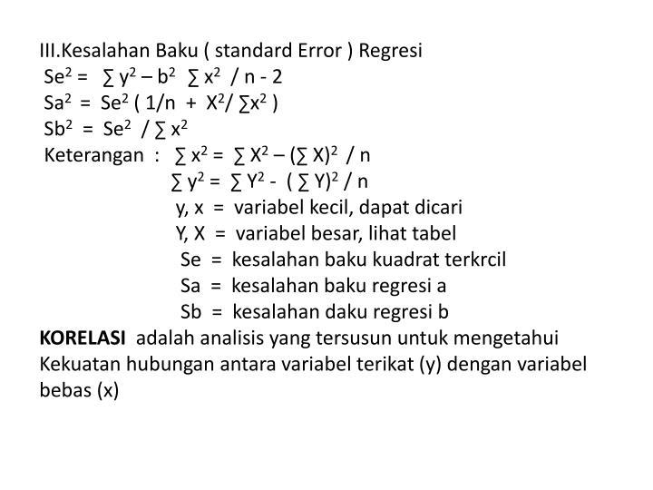 III.Kesalahan