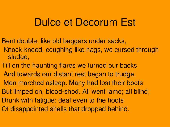 Dulce et Decorum Est