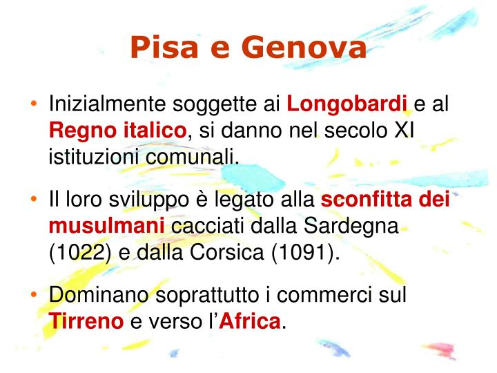 Pisa e Genova