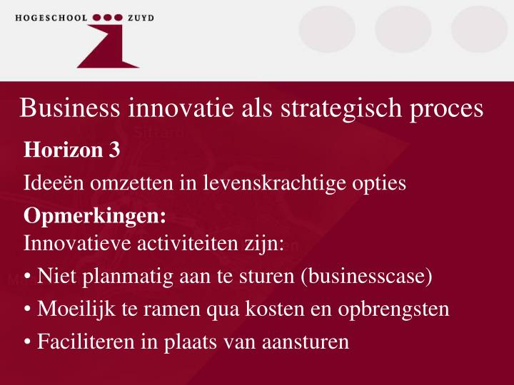 Business innovatie als strategisch proces