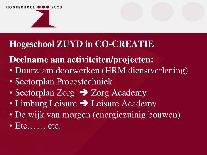 Hogeschool ZUYD in CO-CREATIE