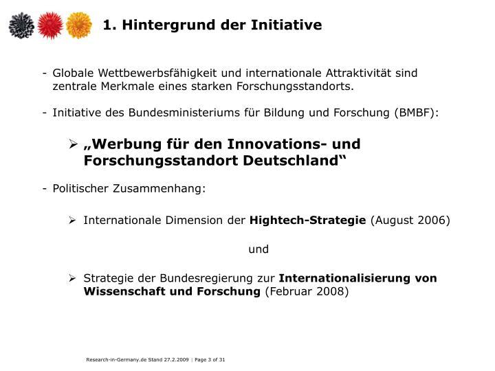 1. Hintergrund der Initiative