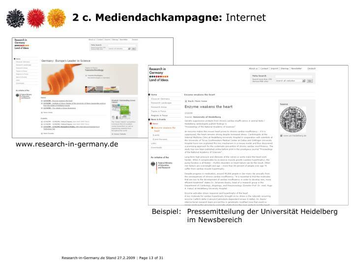 2 c. Mediendachkampagne: