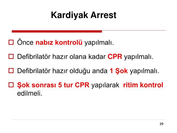 Kardiyak Arrest