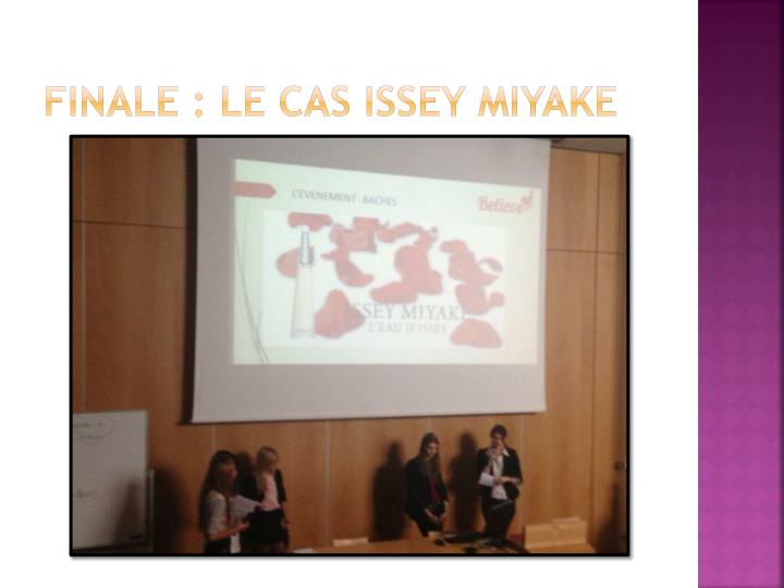 Finale : le cas Issey Miyake