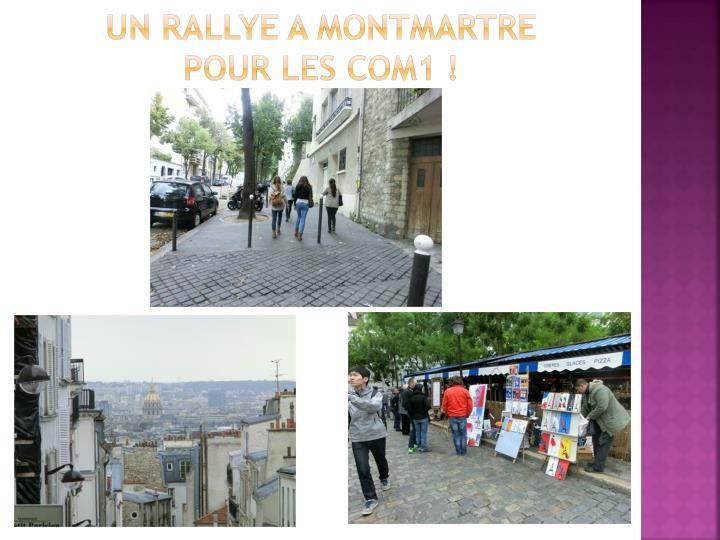 Un rallye a Montmartre