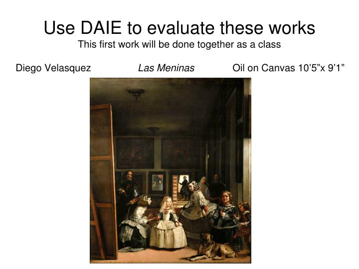 Use DAIE to evaluate these works