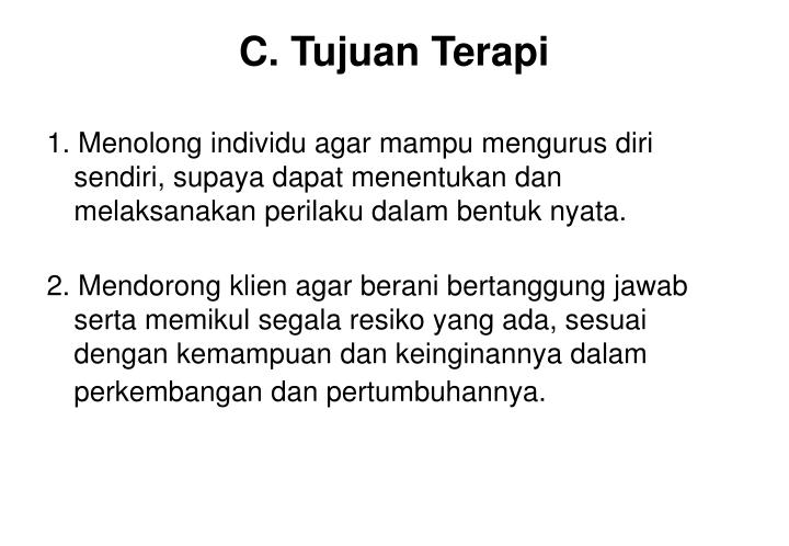 C. Tujuan Terapi