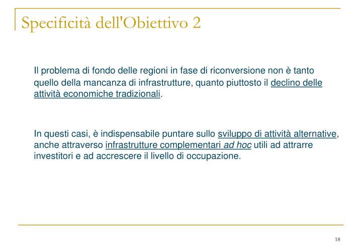 Specificità dell'Obiettivo 2