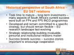 historical perspective of south africa eu s t relations