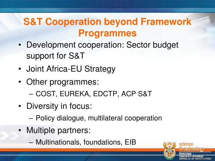 S&T Cooperation beyond Framework Programmes