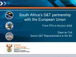 south africa s s t partnership with the european union