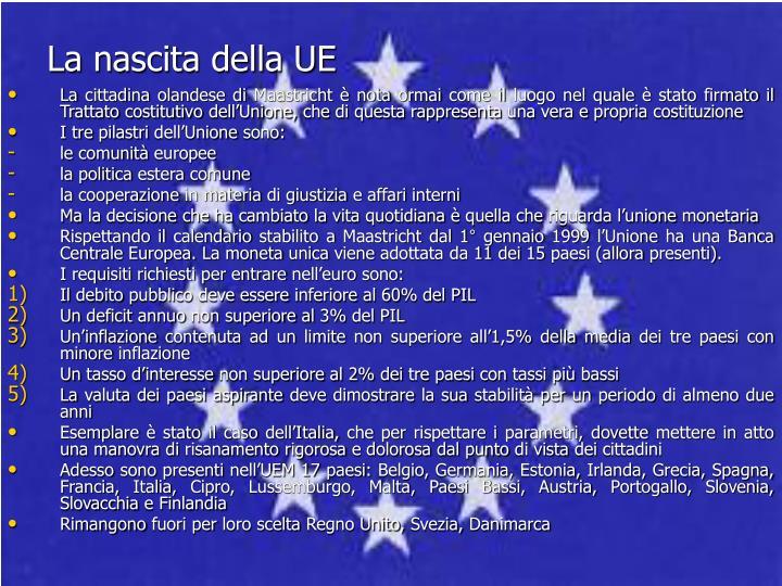 La nascita della UE
