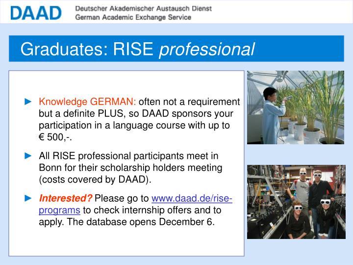 Graduates: RISE