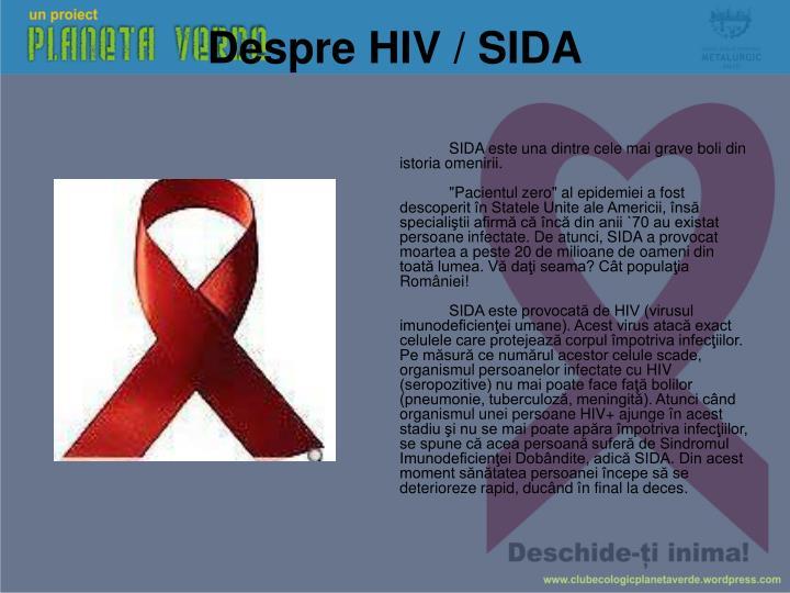 Despre HIV / SIDA