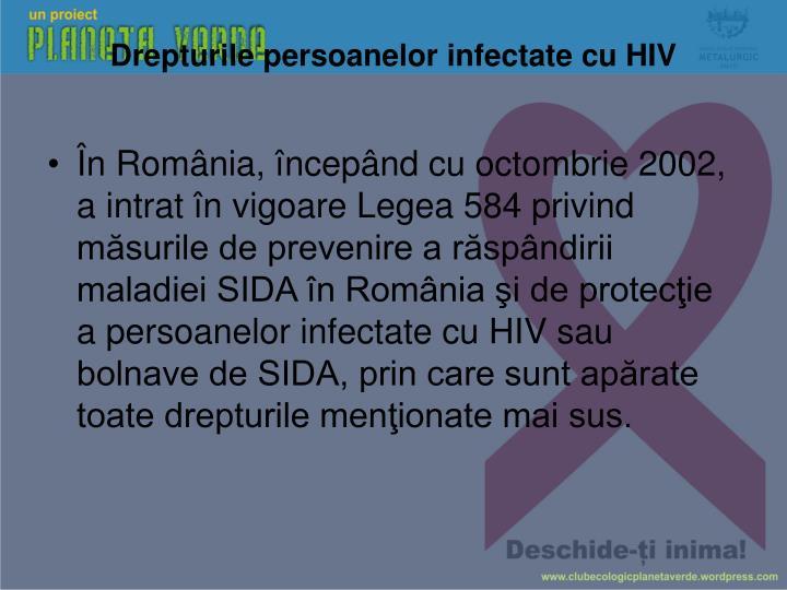 Drepturile persoanelor infectate cu HIV