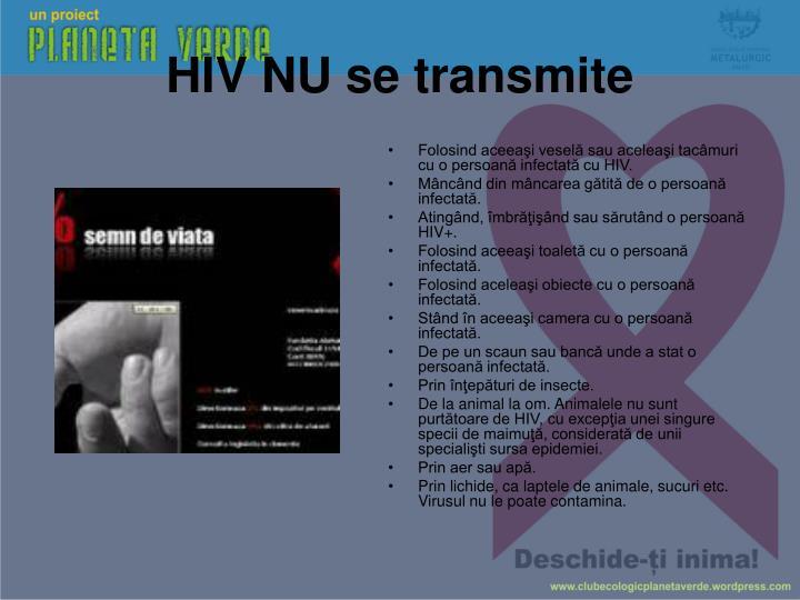 HIV NU se transmite