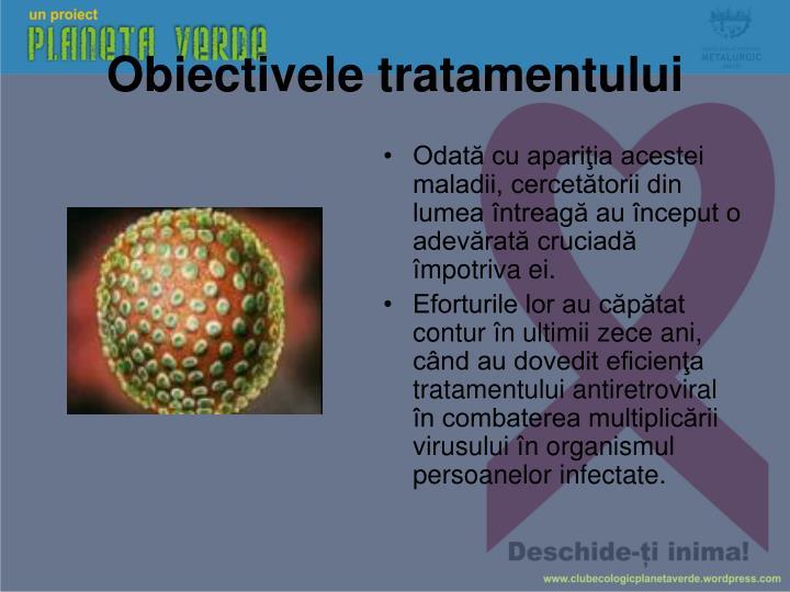 Obiectivele tratamentului
