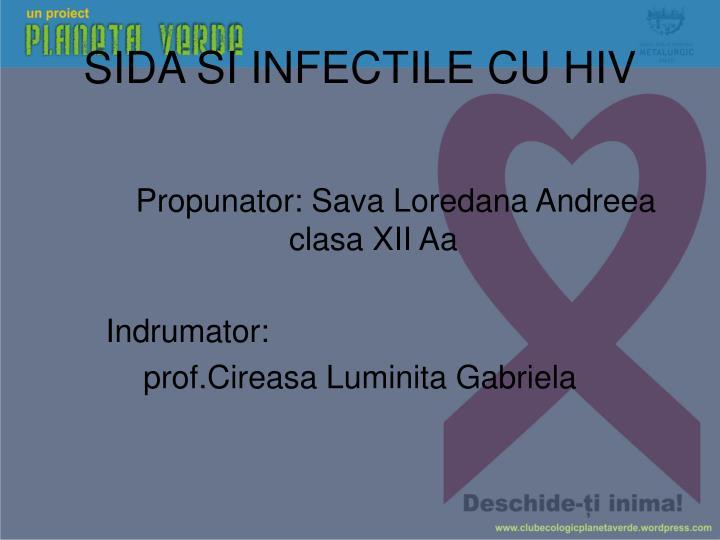 SIDA SI INFECTILE CU HIV