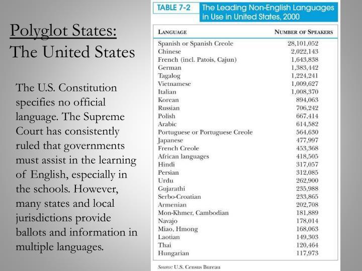 Polyglot States: