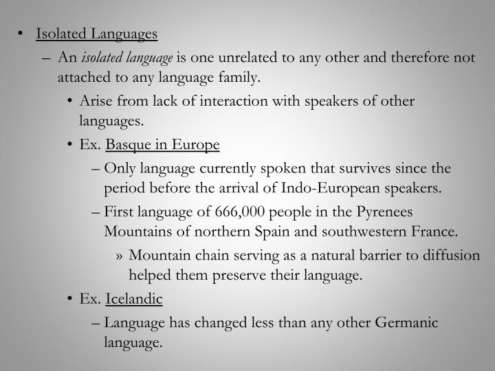 Isolated Languages