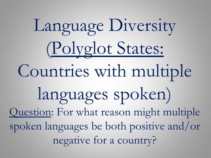 Language Diversity (