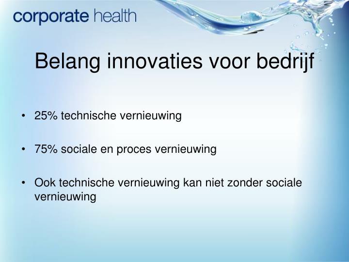 Belang innovaties voor bedrijf