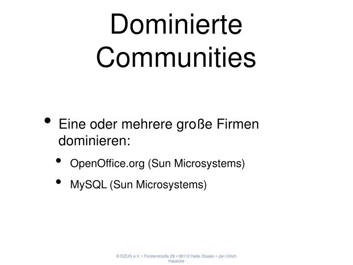 Dominierte Communities