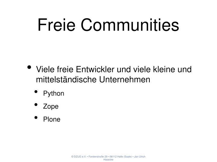 Freie Communities