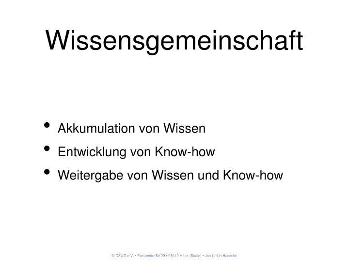 Wissensgemeinschaft