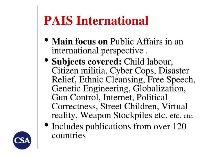PAIS International