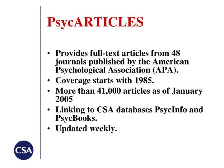 PsycARTICLES