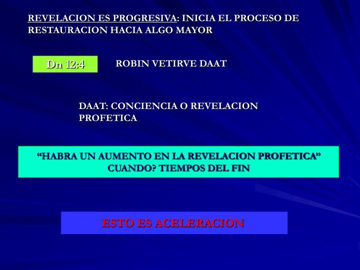 REVELACION ES PROGRESIVA