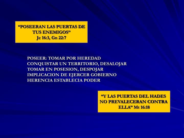 """""""POSEERAN LAS PUERTAS DE"""