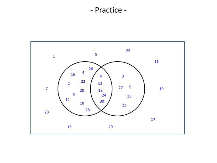 - Practice -