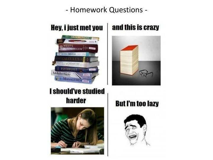- Homework Questions -