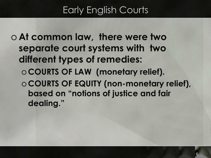 Early English Courts