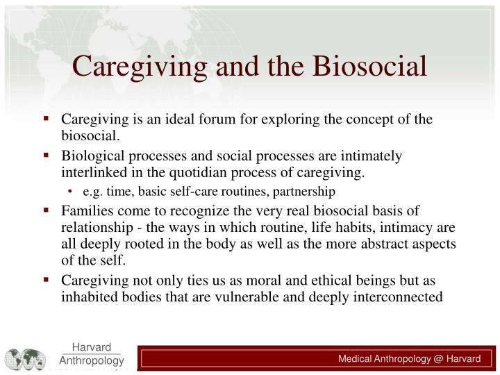 Caregiving and the Biosocial
