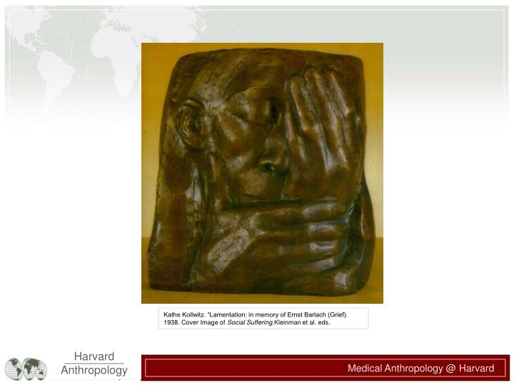"Kathe Kollwitz. ""Lamentation: in memory of Ernst Barlach (Grief). 1938. Cover Image of"
