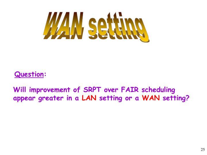 WAN setting