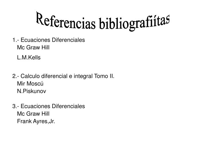 Referencias bibliografiítas