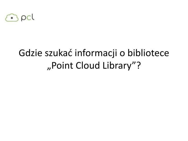 Gdzie szukać informacji o bibliotece