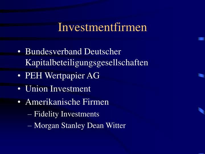 Investmentfirmen