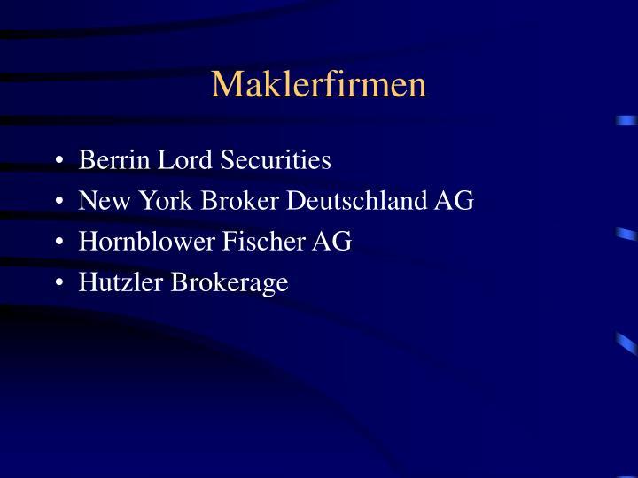 Maklerfirmen