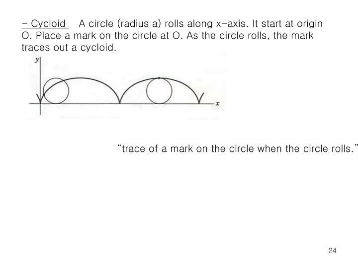 - Cycloid