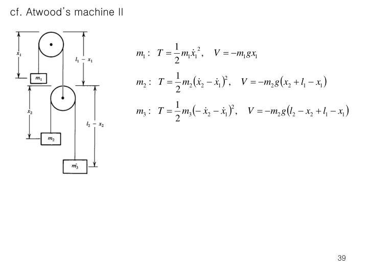cf. Atwood's machine II